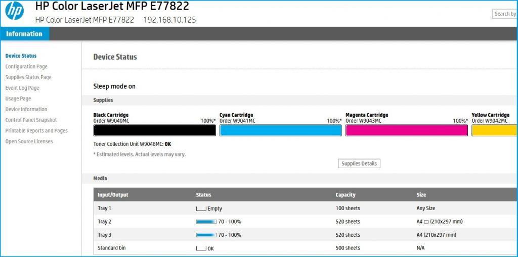 Accès EWS à distance sur les imprimantes HP