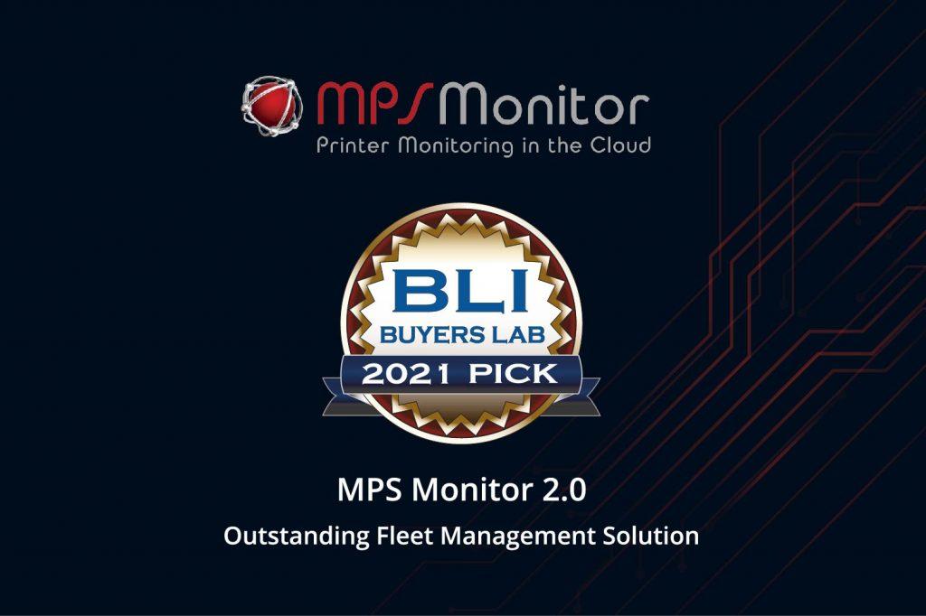 MPS Monitor 2.0 est récompensé au BLI 2021 Pick Award, en recevant le titre de la meilleure solution de gestion de flotte, décerné par Keypoint Intelligence